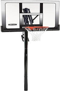 Lifetime 71281 In-ground Power Lift Basketball System, 52 inches backboard