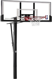 Spalding NBA Aluminum Trim Glass Backboard In-Ground Basketball Hoop