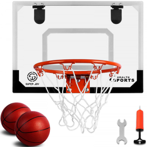 Wall Mounted Basketball Hoop Set with Complete Accessories