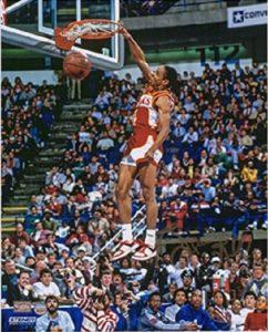 Spud Webb dunks