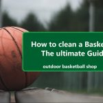 Cleaning a basketball